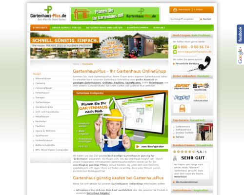 Gartenhaus Plus
