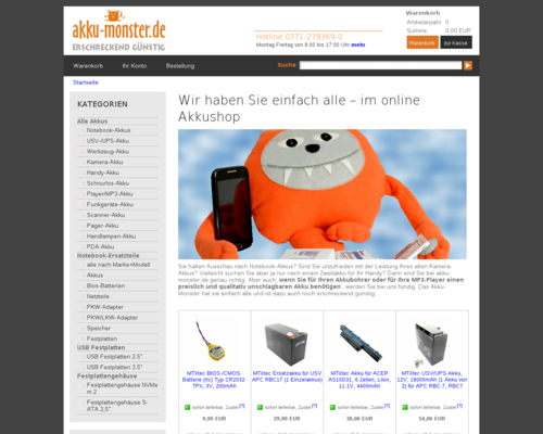 AKKU Monster Onlineshop